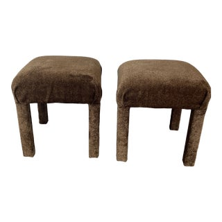 Vintage Parsons Stools/Ottomans - Set of 2 For Sale