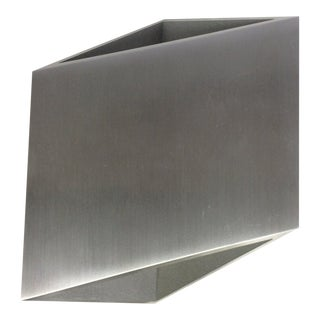 Aluminux Led Outdoor Geometric Wall Sconce For Sale