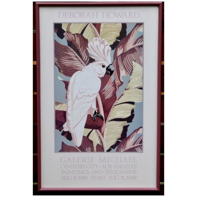 "Glass Vintage Art Gallery Advertisement ""Cockatoo"" Framed Poster For Sale - Image 7 of 11"