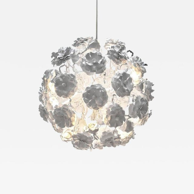 """Brand Van Egmond Floral """"Love You Love You Not"""" Chandelier For Sale - Image 9 of 9"""