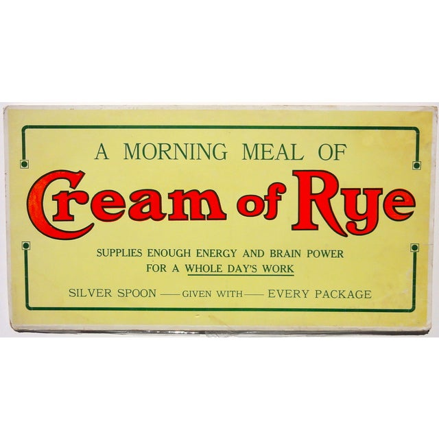 Cream of Rye Sign, Circa 1910 - Image 1 of 4