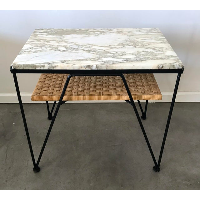 Maurizio Tempestini for Salterini Marble-Top Side Table - Image 3 of 5