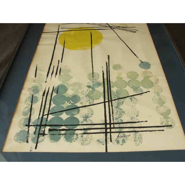 Vintage Abstract Expressionist Monoprint - Image 5 of 7