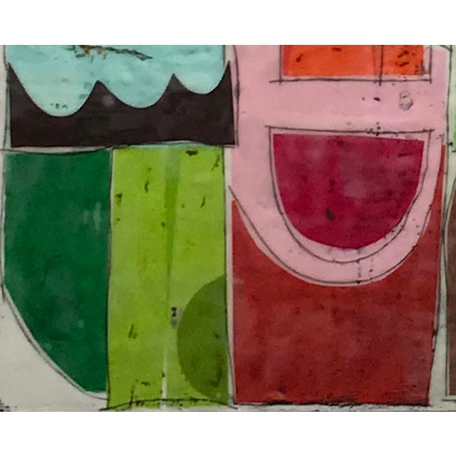 """2010s """"Castling No. 1"""" - Encaustic Collage Painting by Gina Cochran For Sale - Image 5 of 6"""