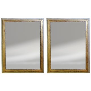 French Painted Mirrors - a Pair