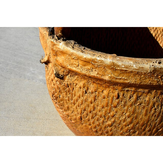 Late 20th Century Chinese Country Willow Basket With Tree Branch Handle For Sale - Image 5 of 13