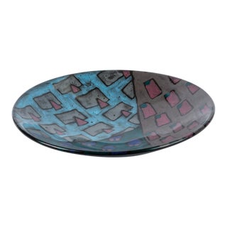 1980s Studio Pottery Bowl With Geometric Motif For Sale