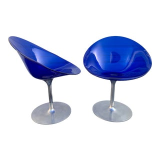 Eros Blue Chairs -Pair For Sale
