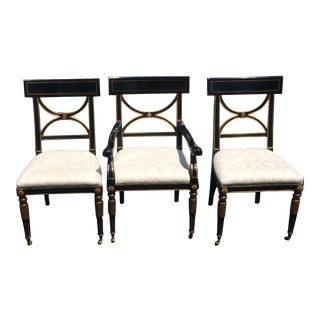 Hollywood Regency Dining Chairs by Hickory Furniture- Set of 8