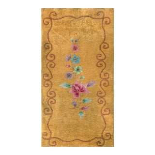 """Antique Chinese, Art Deco Rug 2'0"""" X 3'9"""" For Sale"""