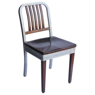 1950s Shaw Walker Aluminum and Wood Chair For Sale