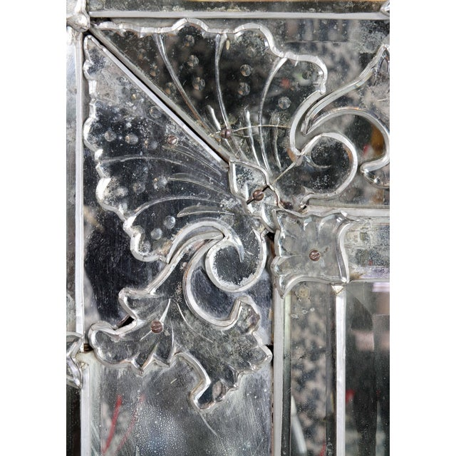 Venetian Glass Mirror For Sale - Image 4 of 8
