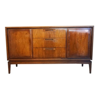 1960s Mid Century Modern Hooker Small Walnut Credenza For Sale