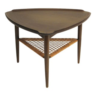 1960s Vintage Kofod Larsen for Selig Wedge Coffee Table For Sale