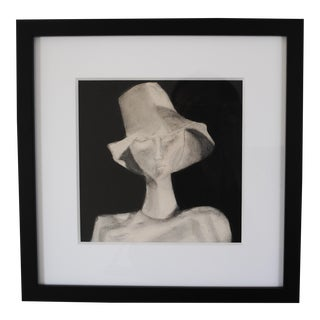 Black & White Expressionist Painting