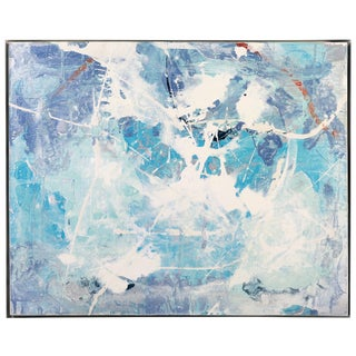 "Abstract ""Blue Breeze"" Painting by William Phelps Montgomery, 2019 For Sale"