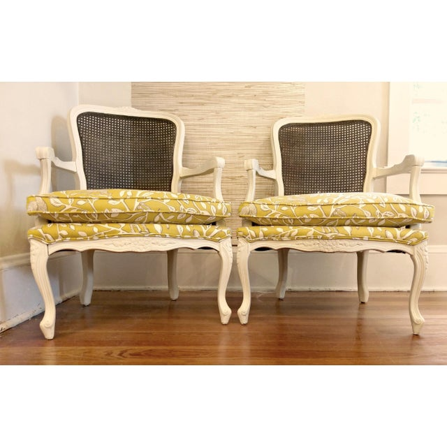 French Country 20th Century French Country Cane Back Chairs - a Pair For Sale - Image 3 of 11