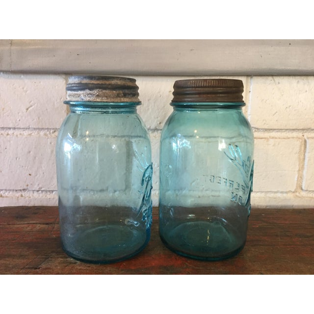 Vintage Blue Ball Mason Jars - A Pair - Image 3 of 11
