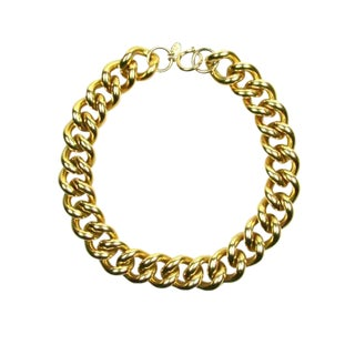 1980s Erwin Pearl Chunky Chain Necklace For Sale