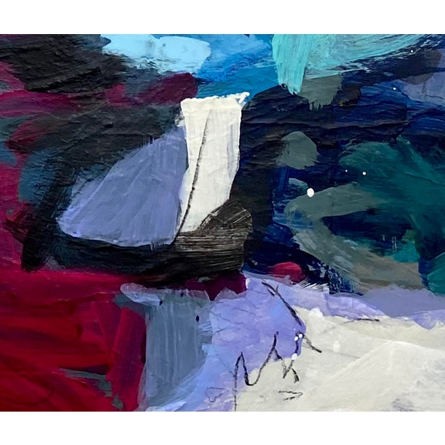 """2020s Mixed Media Painting by Gina Cochran """"In Her Wake"""" Original Art For Sale - Image 5 of 5"""