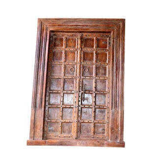 1900s Antique Indian Teak Door For Sale