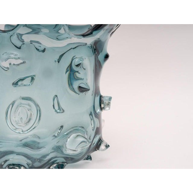 Contemporary 1960s Blue Murano Glass Vase by Barovier E Toso For Sale - Image 3 of 9