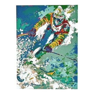 LeRoy Neiman Downhill Skier 1980 For Sale