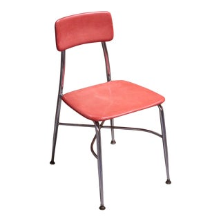 Heywood Wakefield Heywoodite Mid-Century Orange Classroom Children's Chair