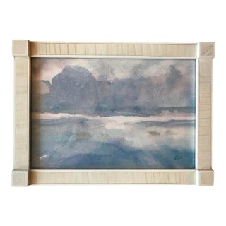 Contemporary Watercolor Skyscape Painting
