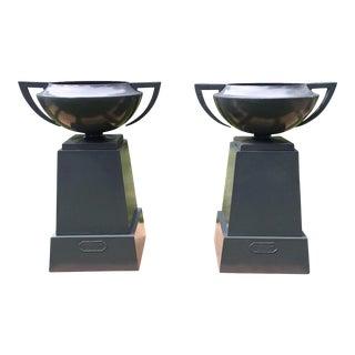 Pair of Athens Junior Urns