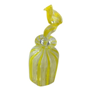 Fratelli Toso Mid-Century Murano Art Glass Scent Bottle For Sale