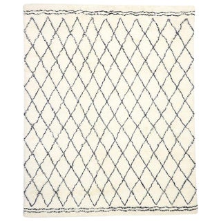 Contemporary Moroccan Style Area Rug - 9′7″ × 11′10″ For Sale