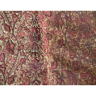 Gold and Red Paisley Draperies, Fully Lined - a Pair For Sale