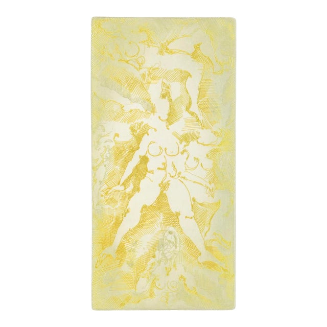 Impromptu Nudes Yellow Etching by Stein 70s For Sale