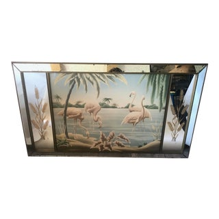 Vintage 1950s Turner Mid-Century Modern Large Flamingo Mirror For Sale