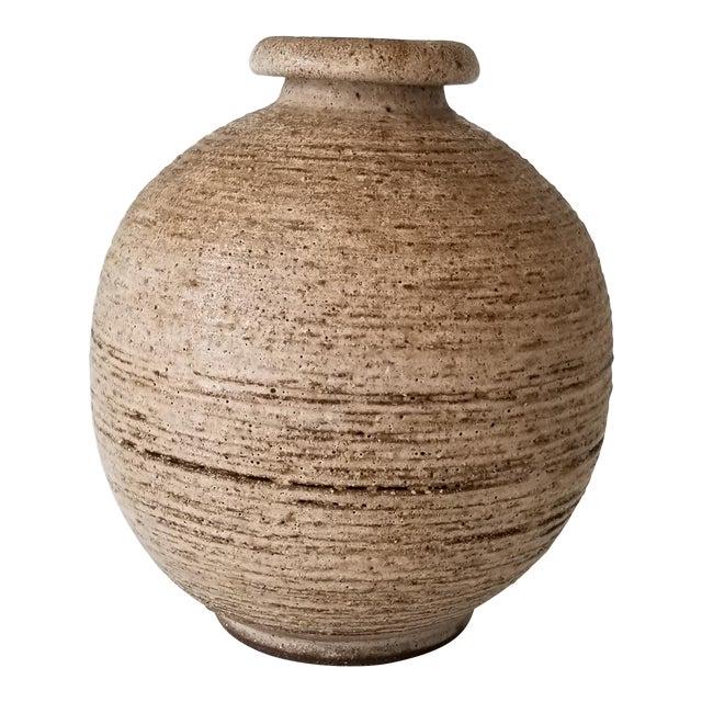Mid-Century Studio Pottery Bud Vase , Signed . For Sale