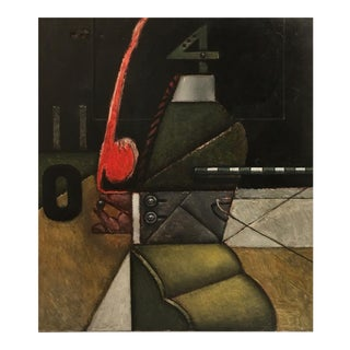 Nick de Angelis (1921-2004) Brutalist Oil Painting