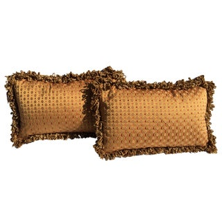 Designer Lumbar Pillows in Travers Fabric - Pair