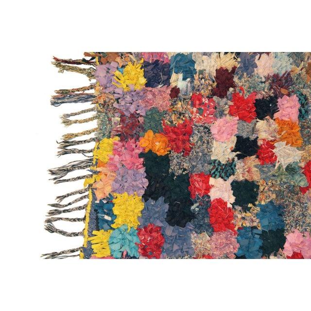 """Vintage Boucherouite Rag Rug - 3'5""""x4'6"""" - Image 2 of 3"""