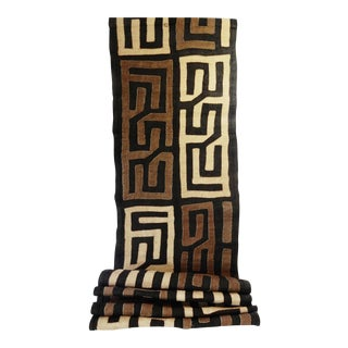 "Kuba Cloth - Bushoong – DR Congo 113 Long by 19"" w"