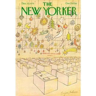 Vintage 1979 New Yorker Cover, December 17 (Eugene Mihaesco), Christmas For Sale