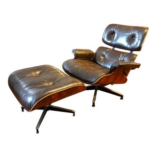 1970s Herman Miller Eames 670/671 Lounge Chair and Ottoman For Sale