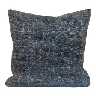 Antique Turkish Solid Hand-Knotted Pillow Cover For Sale