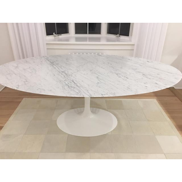 Knoll & Eero Saarinen White Dining Table - Image 6 of 11