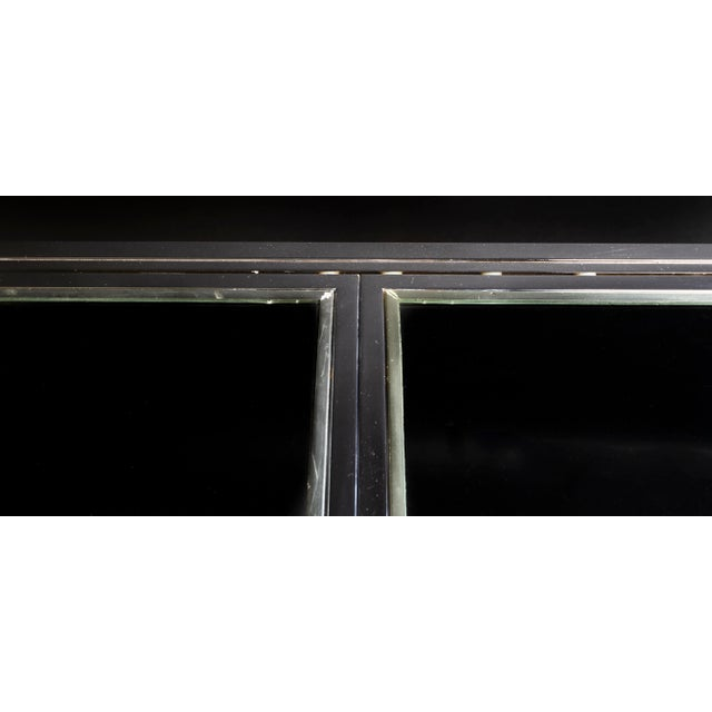 Metal 1950s Modern Milo Baughman Nickel Plated Glass Expansion Table For Sale - Image 7 of 10