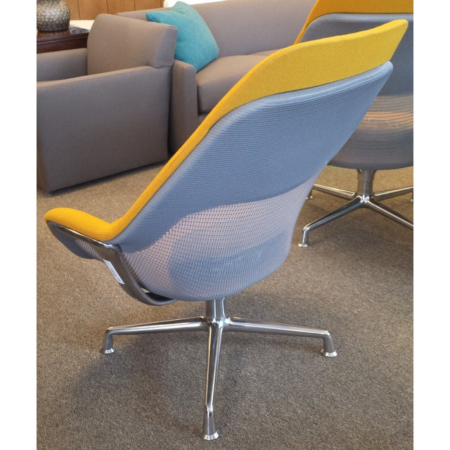 Coalesse Yellow High-Back Swivel Chair - Image 3 of 3