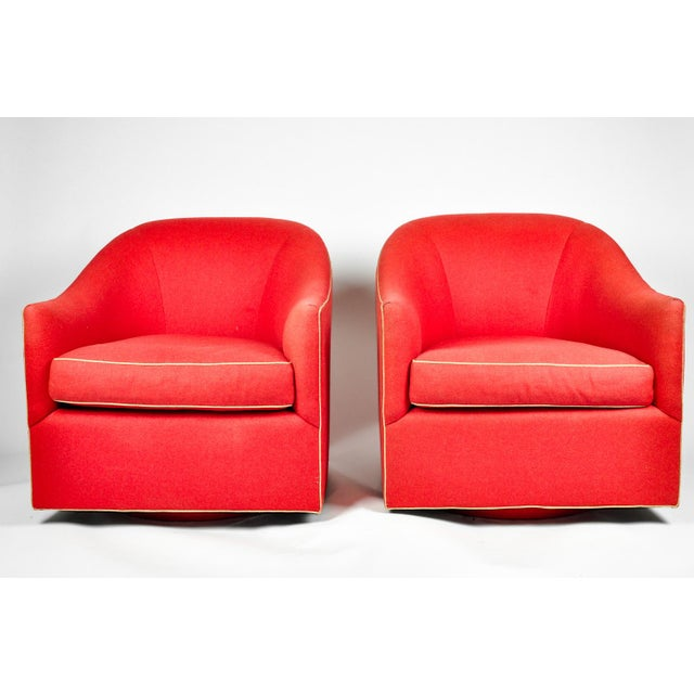 1960s Barrel Chairs, S/2 - Image 10 of 11