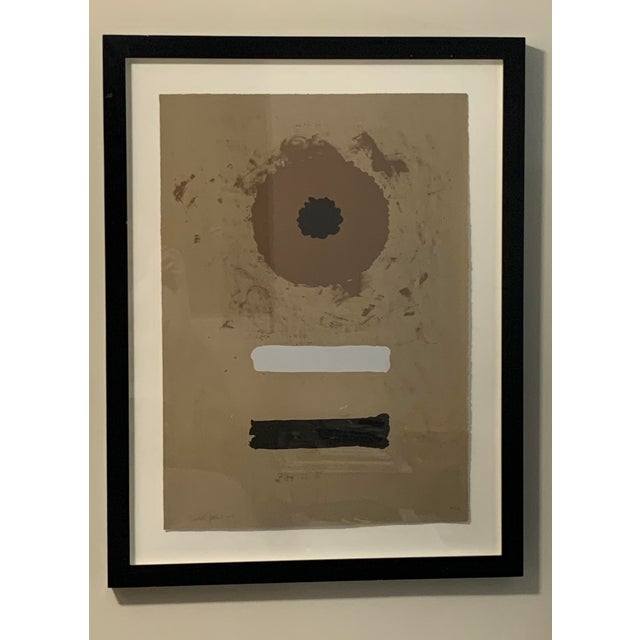 Abstract 1969 Abstract Expressionist Pencil Signed Adolph Gottlieb Lithograph For Sale - Image 3 of 8