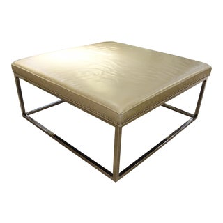 Early 21st Century Mitchell Gold & Bob Williams Leather Ottoman For Sale