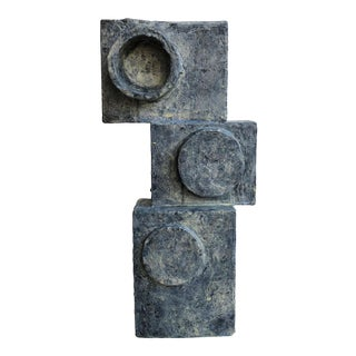 Stacked Abstract Cubist Sculpture by Bill Low For Sale